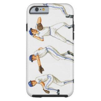 Técnica del cabeceo del béisbol, imagen múltiple funda para iPhone 6 tough