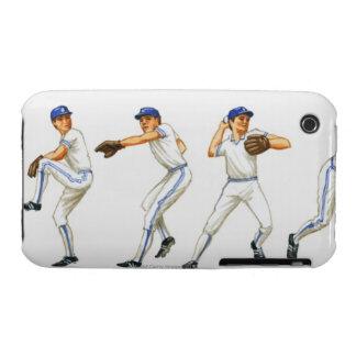 Técnica del cabeceo del béisbol, imagen múltiple iPhone 3 protectores