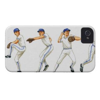 Técnica del cabeceo del béisbol, imagen múltiple iPhone 4 protector