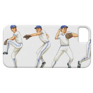 Técnica del cabeceo del béisbol, imagen múltiple iPhone 5 carcasas