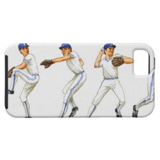 Técnica del cabeceo del béisbol, imagen múltiple iPhone 5 funda