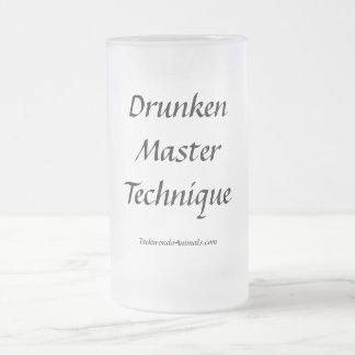 Técnica principal borracha taza de cristal