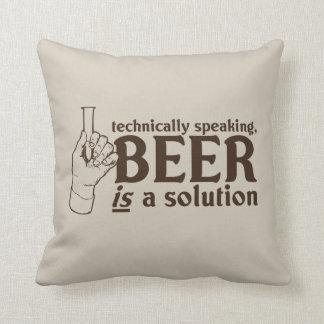 Técnicamente hablando, la cerveza es una solución almohadas