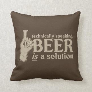 técnicamente hablando, la cerveza es una solución cojines