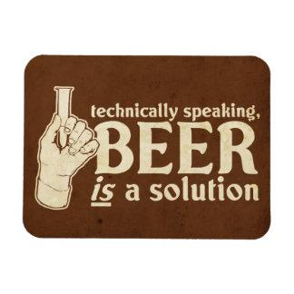 técnicamente hablando, la cerveza es una solución imanes de vinilo