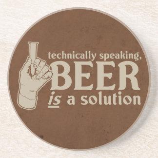 técnicamente hablando, la cerveza es una solución posavasos personalizados
