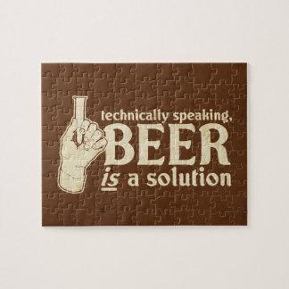 técnicamente hablando, la cerveza es una solución puzzles con fotos
