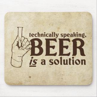 Técnicamente hablando, la cerveza es una solución tapete de ratón