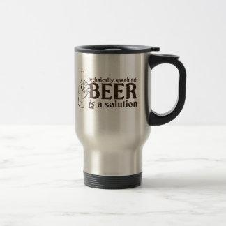 Técnicamente hablando, la cerveza es una solución tazas de café
