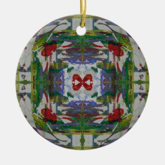 Técnicas mixtas abstractas tres ornamentos para reyes magos