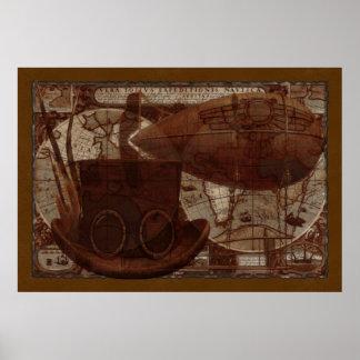 Técnicas mixtas de Imaginarium Steampunk Posters