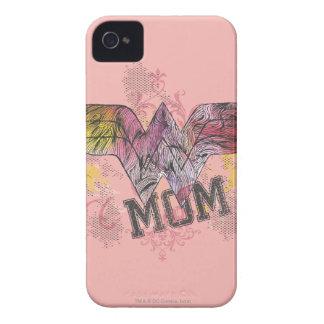 Técnicas mixtas de la mamá de la maravilla iPhone 4 Case-Mate carcasa