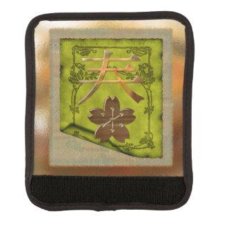 Técnicas mixtas ópticas del simbolismo japonés cobertura para asa de maleta