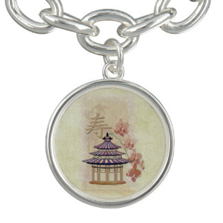 Técnicas mixtas subiós pagoda orientales pulsera