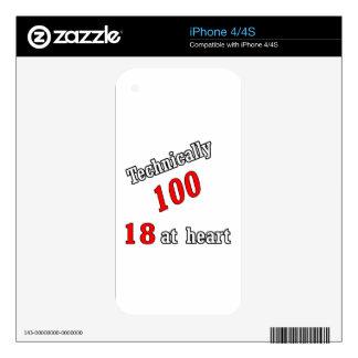 Técnico 100, 18 en el corazón iPhone 4 skins