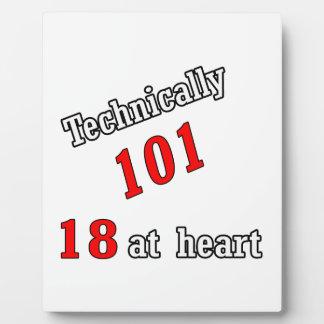 Técnico 101, 18 en el corazón placa de madera
