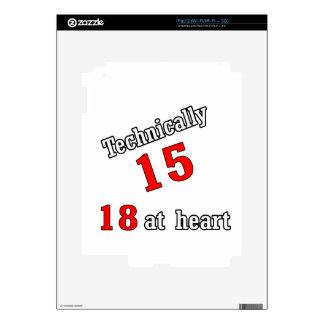 Técnico 15, 18 en el corazón skin para el iPad 2