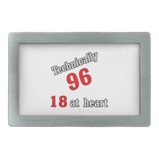 Técnico 96, 18 en el corazón hebillas de cinturon rectangulares