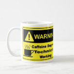 Técnico amonestador del cafeína taza