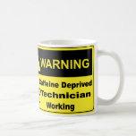 Técnico amonestador del cafeína taza de café