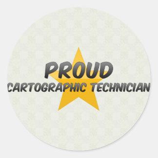 Técnico cartográfico orgulloso pegatinas