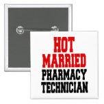 Técnico casado caliente de la farmacia pins
