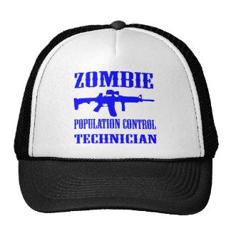 Técnico de control de población del zombi gorras de camionero