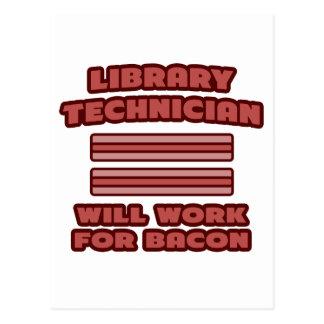 Técnico de la biblioteca. Trabajará para el tocino Postal