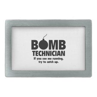 Técnico de la bomba hebilla de cinturon rectangular