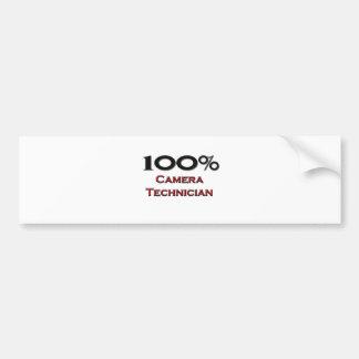 Técnico de la cámara del 100 por ciento pegatina de parachoque