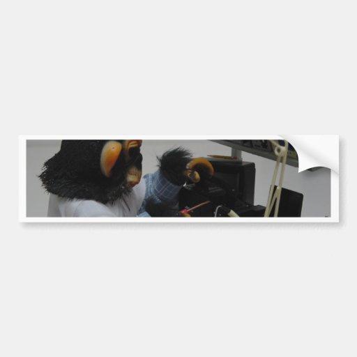 técnico de la cámara del electonics etiqueta de parachoque