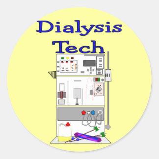 Técnico de la diálisis--Diseño de máquina de Frese Etiquetas Redondas