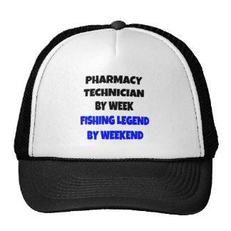 Técnico de la farmacia de la leyenda de la pesca gorras de camionero