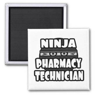 Técnico de la farmacia de Ninja Imán Cuadrado