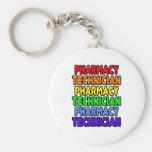 Técnico de la farmacia del arco iris llaveros