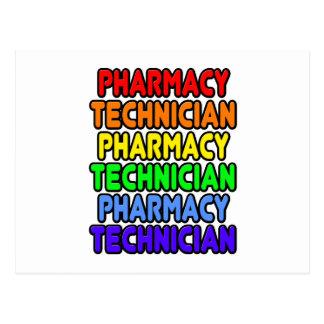 Técnico de la farmacia del arco iris tarjeta postal