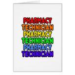 Técnico de la farmacia del arco iris tarjeton