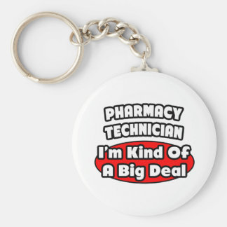 Técnico de la farmacia. Gran cosa Llavero Redondo Tipo Pin