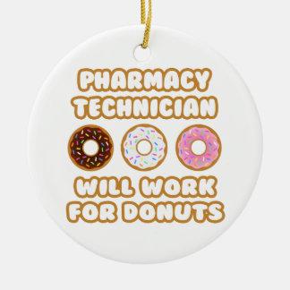 Técnico de la farmacia. Trabajará para los anillos Adorno Navideño Redondo De Cerámica