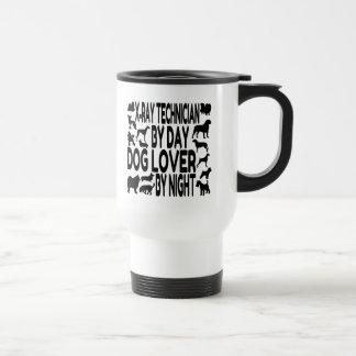 Técnico de la radiografía del amante del perro tazas