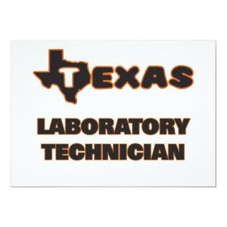 Técnico de laboratorio de Tejas Invitación 12,7 X 17,8 Cm