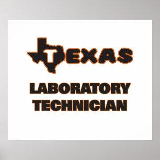 Técnico de laboratorio de Tejas Póster