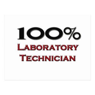 Técnico de laboratorio del 100 por ciento tarjetas postales