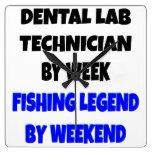 Técnico de laboratorio dental de la leyenda de la  reloj