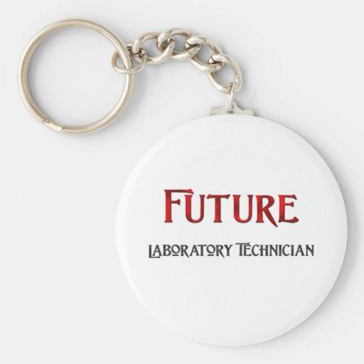 Técnico de laboratorio futuro llaveros personalizados