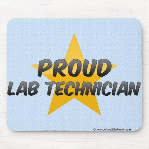 Técnico de laboratorio orgulloso tapete de ratón