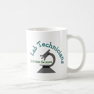 Técnico de laboratorio taza básica blanca