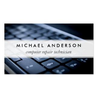 Técnico de reparación de escritorio del ordenador tarjetas de visita
