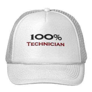 Técnico del 100 por ciento gorras de camionero