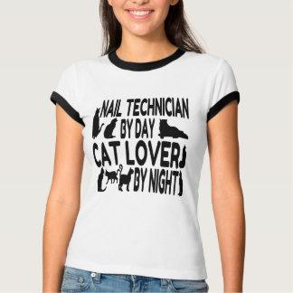 Técnico del clavo del amante del gato remera